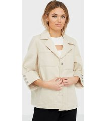 selected femme slfhelena jade white denim jacket w jeansjackor