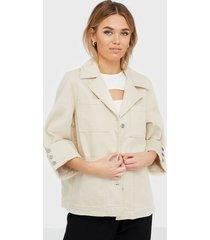 selected femme slfhelena jade white denim jacket w jeansjackor