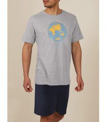 pyjama's / nachthemden admas for men pyjama kort t-shirt planet in balance national geographic