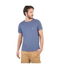 t-shirt básica fit azul jeans azul jeans/p