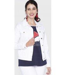 chaqueta mezclilla blanco curvi