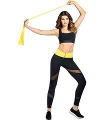 faja hot shapers by caro cruz leggings hot power sweat + instant training negro