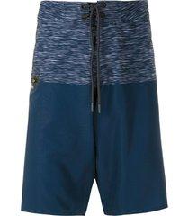 track & field laser surf swim shorts - blue