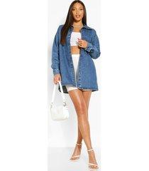 tall oversized spijkerblouse, mid blue
