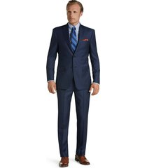 jos. a. bank men's signature gold collection tailored fit herringbone suit clearance, blue, 43 regular