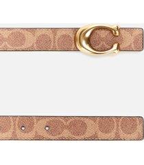 coach women's 25mm c reversible signature belt - b4/tan rust - l
