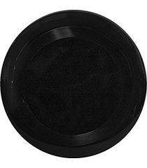 "10"" flying frisbee style hard plastic disc - black"