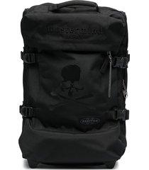 eastpak skull print travel bag - black