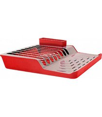 escorredor de pratos minimal vermelho brinox