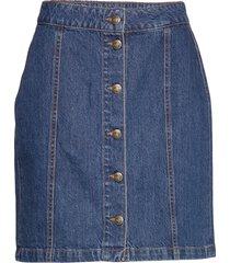 celie skirt kort kjol blå by malina
