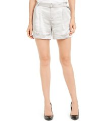 inc shiny belted shorts, created for macy's