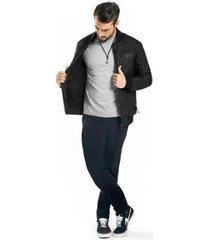 jaqueta rovitex matelassê masculina