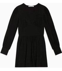 vestido ls panel negro calvin klein