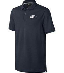 camiseta polo nike piquet matchup-azul acero-negro-azul petroleo