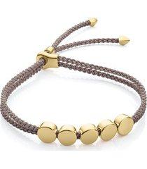 gold linear bead friendship bracelet