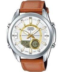relógio masculino casio world time amw-810l-5avdf
