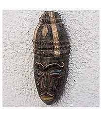 african wood mask, 'hat wearer' (ghana)