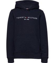 essential hoodie hoodie trui blauw tommy hilfiger