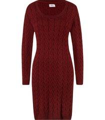 abito in maglia a trecce (rosso) - bpc bonprix collection