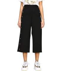 versace pants versace cropped trousers with mini jellyfish heads