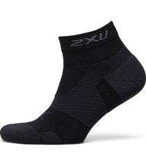 vectr cushion 1/4 crew socks ankelstrumpor korta strumpor svart 2xu