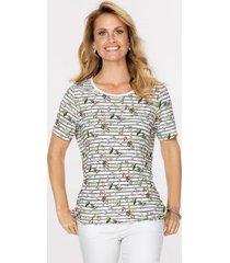 shirt mona wit::olijf::lavendel