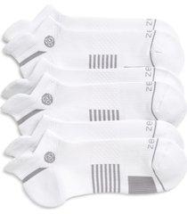 zella men's motion 3-pack ankle socks, size regular in white at nordstrom
