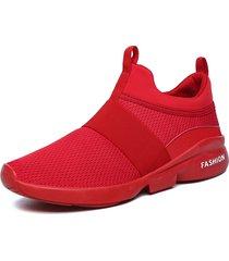 uomo casual sneakers da correre con banda elastica portabile slip-on