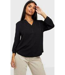 object collectors item objbaya 3/4 v-neck blouse noos vardagsblusar