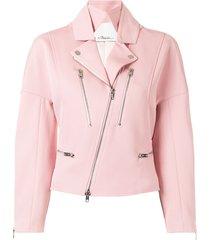 3.1 phillip lim twill biker jacket - pink