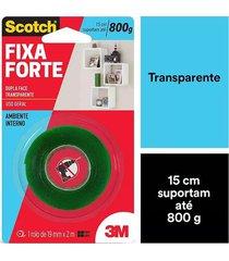 fita adesiva dupla face scotch 3m com espuma uso interno 19mmx2m