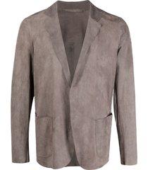 salvatore santoro slouchy blazer - grey