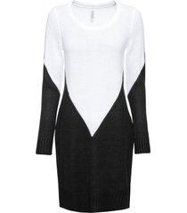 abito in maglia bicolore (bianco) - rainbow