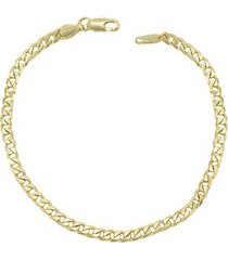 pulseira tudo joias folheada a ouro 18k grumet tradicional