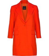 3596 - shelley new c wollen jas lange jas rood sand