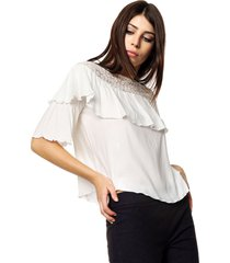 blusa natural asterisco malvon