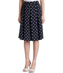 tahari asl dot-print pleated skirt