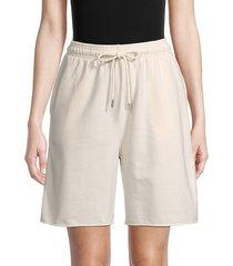 rd style women's drawstring shorts - almond - size s