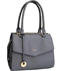 cartera gris thatbag 1012