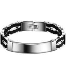 pulsera hombre titanio ws1861 - color negro plata