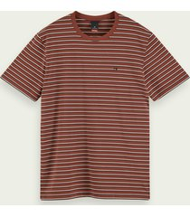 scotch & soda t-shirt van stretchkatoen met korte mouwen