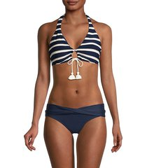 striped halter bikini top
