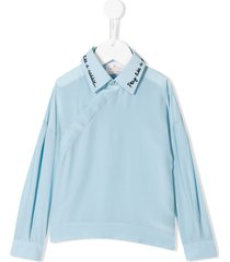 raspberry plum yulia blouse - blue