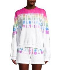 hard tail women's tie-dye sweatshirt - rainbow wave