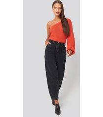 beyyoglu slouchy jeans - black,grey