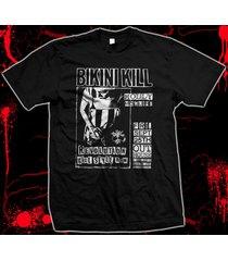 bikini kill flyer - riot grrl - molly mcguire 100% hand made silk screen t-shirt