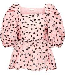 irene, 1012 meadow organza blouses short-sleeved roze stine goya