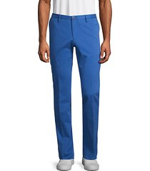 buttoned stretch pants