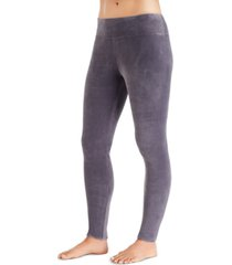 cuddl duds women's double-plush velour leggings