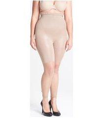 women's spanx higher power capri shaper, size d - beige